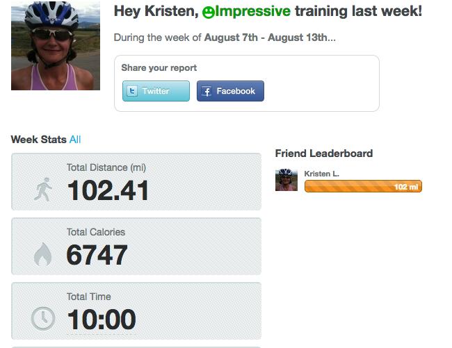 August 14 update Ironman training