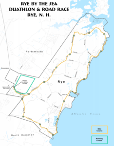 Rye By the Sea duathlon course map