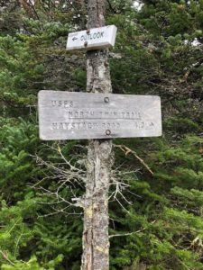North Twin trail sign